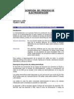Descripción Del Proceso de Electroobteción