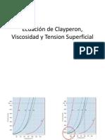 Ecuacion de Clayperon Viscosidad y Tension Superficial