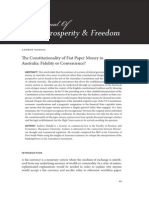 The Constitutionality of Fiat Paper Money in Australia