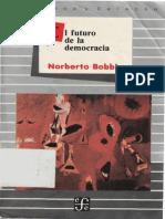 Bobbio Norberto El Futuro de La Democracia 1986