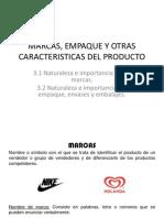 Marcas, Empaque y Otras Caracteristicas Del Producto