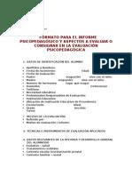 FORMATO INFORME PSICOPEDFAGOGICO 08