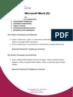Microsoft Word (II)