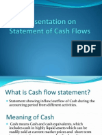 Presentation on Statement of Cash Flows
