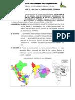 Plan de Trabajo Losa Deportiva Huancabamba Nº 5