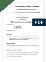 P8 Amplificador Sumador Diferencial
