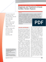 Diagnosis and Treatment of Acute Achilles Tendon Rupture