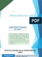 Operaciones de Campo