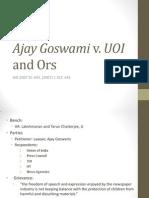Ajay Goswami v UOI