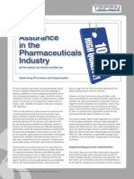 Quality Assurance in the Pharmaceuticals Industry