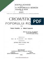 Din Viata Poporului Roman, Cromatica Poporului Roman, Tudor Pamfile, 1914