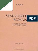 Miniaturile Romanesti, N. Iorga, 1933, Conferinta Sustinuta La Fundatia Dalles