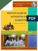 informe de lab 1 identificacion de nutrientes en los alimentos      1