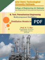 Distillation Models for Simulation