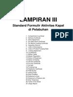 Standard Formulir Aktivitas Kapal Di Pelabuhan