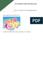 ¿Cuáles son los 20 mejores apps educativas para kidsh