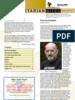 Vegetarian Bites - Spring 2009 newsletter