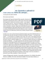 ConJur - Direito e Futebol_ Quando o Pênalti é Marcado No Meio Do Campo..
