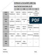 IV Sem Practical Schedule
