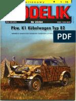 [Modelik 2004 23] - Pkw.K1 Kuebelwagen Typ 82