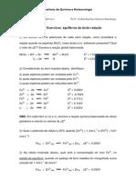 Lista de Exercícios - Equilíbrios de Oxido Redução