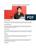 Top 10 Most Common Resume Mistakes That Could Cost You the Job