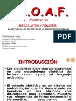 87782698 P R O a F Programa de Articulacion y Fonacion Obdulia Maestre Pascual y Corina Ruiz Paredes