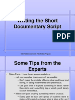 Writing the Short Documentary Script