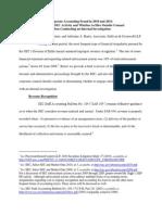 High Harris PLI Accounting Article 2010 11 Update