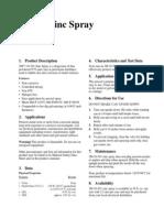 3M Zinc Spray 16-501 Data Sheet
