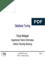 Tuning Database Itb