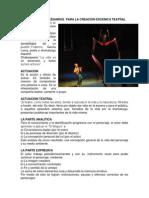 Instrumentos Necesarios Para La Creacion Escenica Teatral