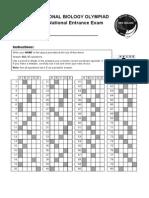 2008 Answer Sheet