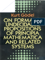 Kurt Godel on Formally Undecidable Propositions