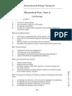 IBO 2001 Theory Paper A