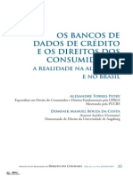 Os Bancos de Dados de Crédito e Os Direitos Dos Consumidores a Realidade Na Alemanha e No Brasil
