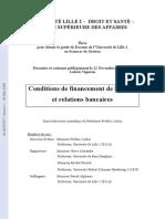 Conditions de Financement de La PME Et Relations Bancaires