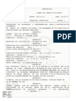 Existencia y Reperesentacion Legal o Inscripcion de Documentos Registro Mer0
