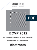 ECVP 2012 Supplement Abstracts