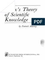 Marx's Theory of Scientific Knowledge -Patrick Murray