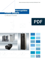 WEG Ups Uninterruptible Power Supply 50030514 Catalogo Portugues Br