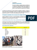 Población en Edad Escolar Que Trabaja en Guatemala