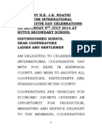 THE INTERNATIONAL COOPERATIVE DAY CELEBRATIONS