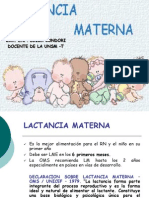 1) Lactancia Materna