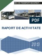 Raport Activitate RATB 2013 Sintetizat