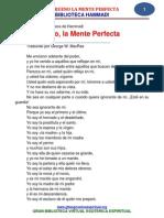 El Trueno, La Mente Perfecta. Poema
