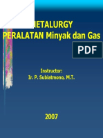 Materi Oil and Gas Field Metallurgy