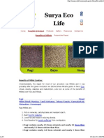 Benefits of Millets - Surya Eco Life
