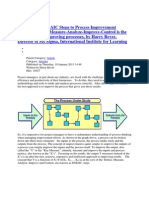Applying the DMAIC Steps to Process Improvement Projects