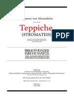Clemens Von Alexandrien Teppiche (Stromateis) Staehlin Uebersetzung